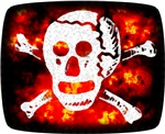 Poison Skull & Flames